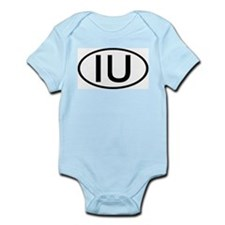 IU - Initial Oval Infant Creeper