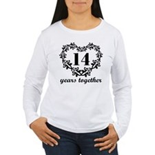 14th Anniversary Heart T-Shirt