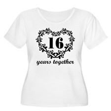 16th Anniversary Heart T-Shirt