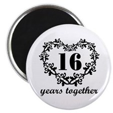 16th Anniversary Heart Magnet