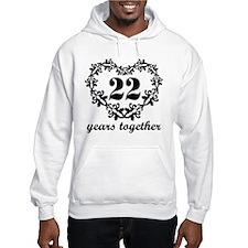 22nd Anniversary Heart Hoodie