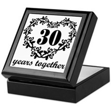 30th Anniversary Heart Keepsake Box