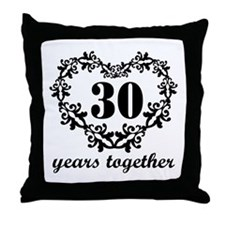 30th Anniversary Heart Throw Pillow
