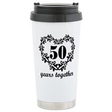 50th Anniversary Heart Ceramic Travel Mug