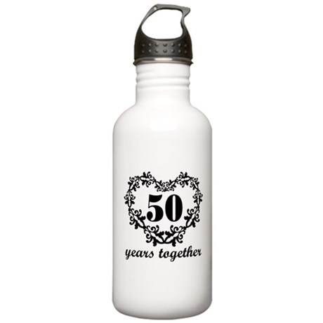 50th Anniversary Heart Stainless Water Bottle 1.0L
