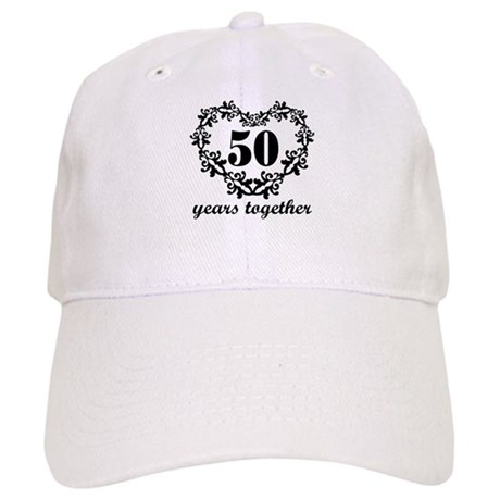 50th Anniversary Heart Cap