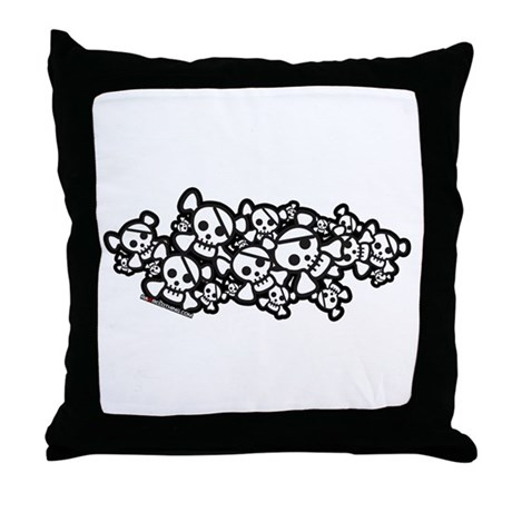 Cute Pirate Skulls Throw Pillow