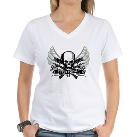 Modern Task Force Warfare Women's V-Neck T-Shirt