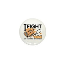 Fight Like a Girl Leukemia Mini Button (10 pack)