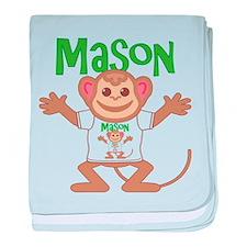 Little Monkey Mason baby blanket