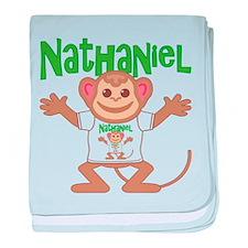 Little Monkey Nathaniel baby blanket