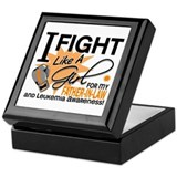 Fight Like a Girl Leukemia Keepsake Box