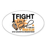 Fight Like a Girl Leukemia Decal