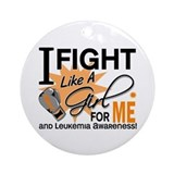 Fight Like a Girl Leukemia Ornament (Round)