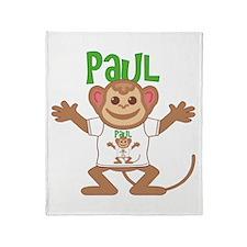 Little Monkey Paul Throw Blanket