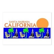 Cute Santa barbara california Postcards (Package of 8)