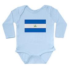 Flag of Nicaragua Long Sleeve Infant Bodysuit