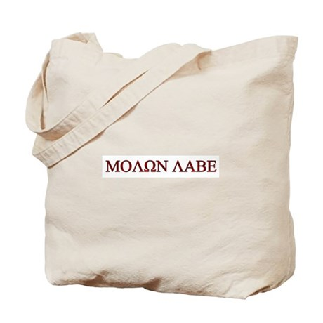 "Molon Labe (""Come take them"") Tote Bag"