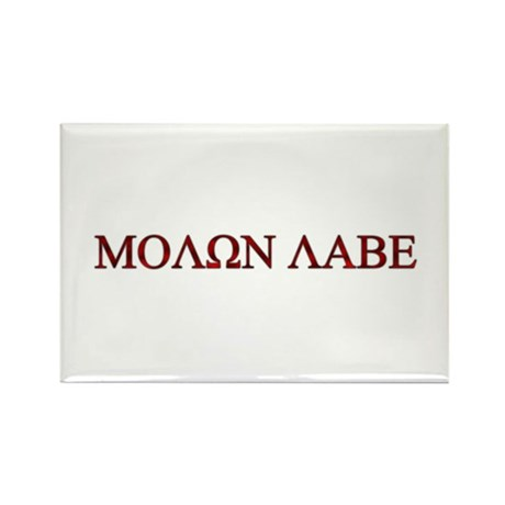 "Molon Labe (""Come take them"") Rectangle Magnet (10"