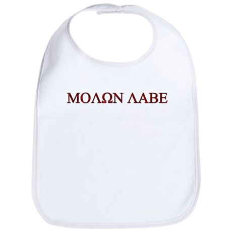 "Molon Labe (""Come take them"") Bib"