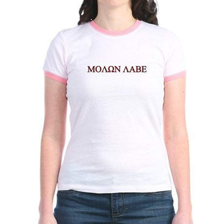 "Molon Labe (""Come take them"") Jr. Ringer T-Shirt"