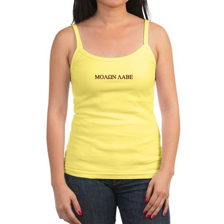 "Molon Labe (""Come take them"") Jr. Spaghetti Tank"