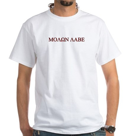 "Molon Labe (""Come take them"") White T-Shirt"