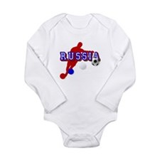 Russian Soccer Player Long Sleeve Infant Bodysuit