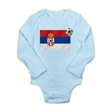 Serbian Football Flag Long Sleeve Infant Bodysuit