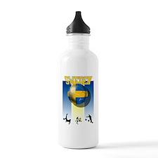 Swedish Flag Europe Water Bottle