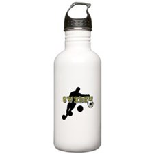 Sweden Football Water Bottle