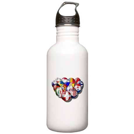 European Soccer Football Stainless Water Bottle 1.