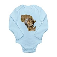 Giraffe Soccer Ball Long Sleeve Infant Bodysuit