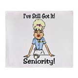 Seniority Throw Blanket