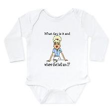 where the hell am I Long Sleeve Infant Bodysuit