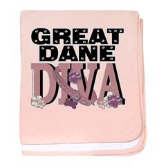 Great Dane DIVA baby blanket