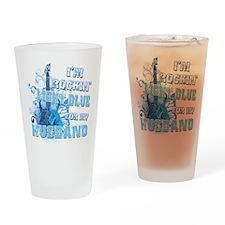 I'm Rockin' Light Blue for my Drinking Glass