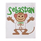 Little Monkey Sebastian Throw Blanket