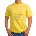 Off Center Yellow T-Shirt