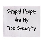 Job Security Throw Blanket