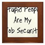 Job Security Framed Tile