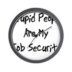 Job Security Wall Clock