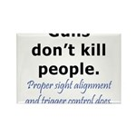 Guns Trigger Rectangle Magnet (10 pack)