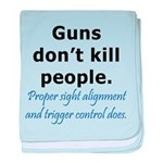 Guns Trigger baby blanket