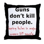 Guns Organs Throw Pillow