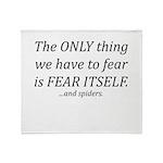Fear Itself Throw Blanket