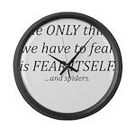 Fear Itself Large Wall Clock