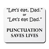 Punctuation Saves Mousepad