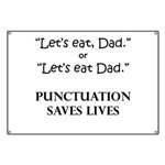 Punctuation Saves Banner