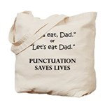 Punctuation Saves Tote Bag